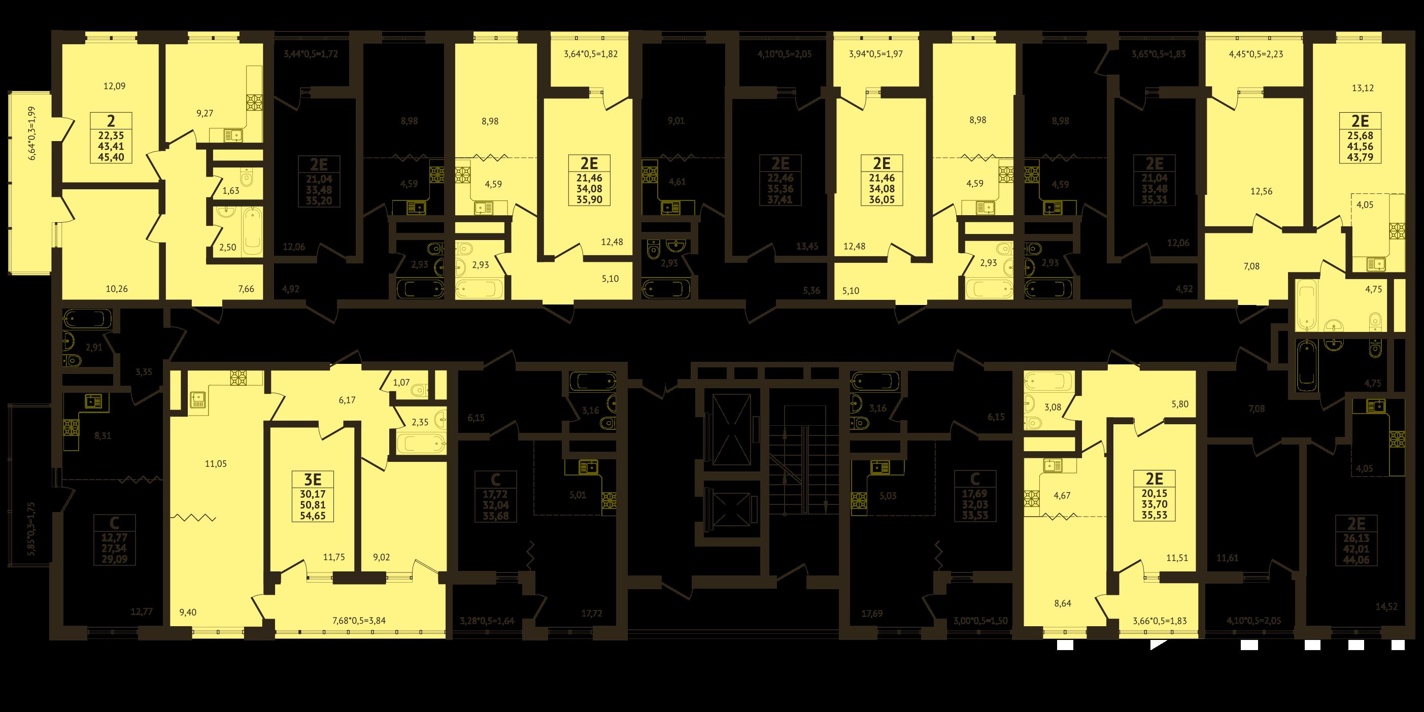 Планировки ЖК Оникс - Подъезд 1