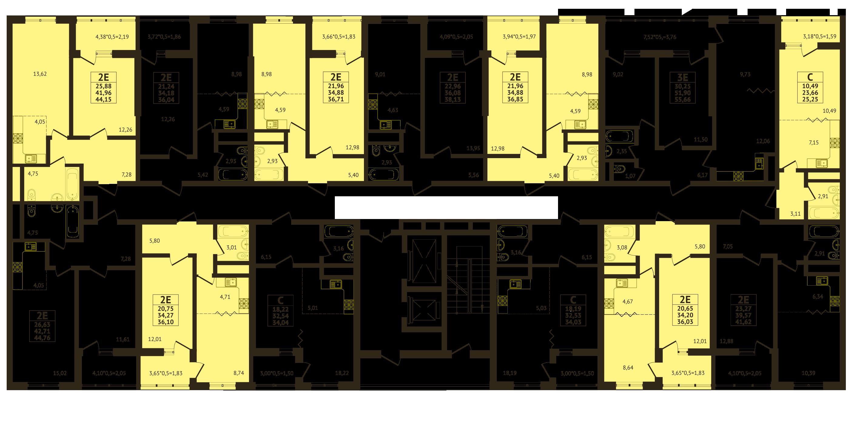Планировки ЖК Оникс - Подъезд 2