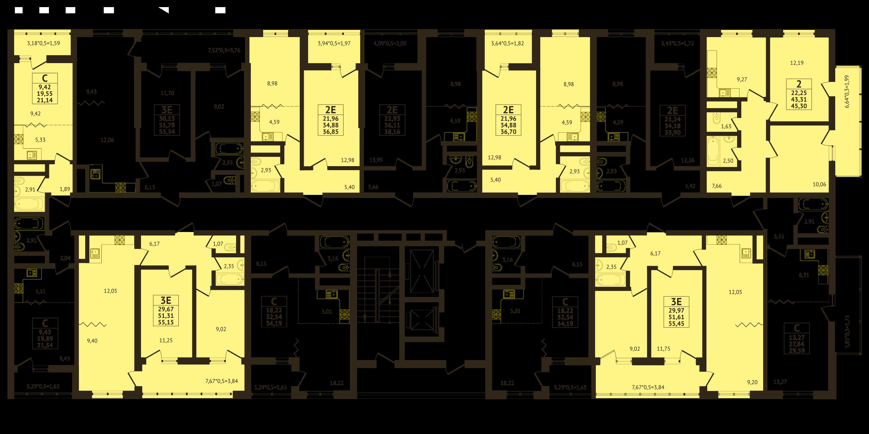 Планировки ЖК Оникс - Подъезд 3